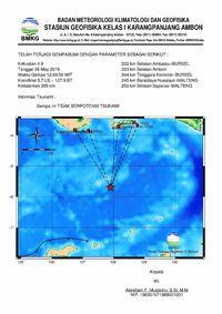 Gempa 4,9 SR di Maluku