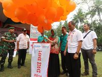 Prosesi Pelepasan Balon membuka Acara Pasar Murah BNI Rejeki Ramadhan 1439 H
