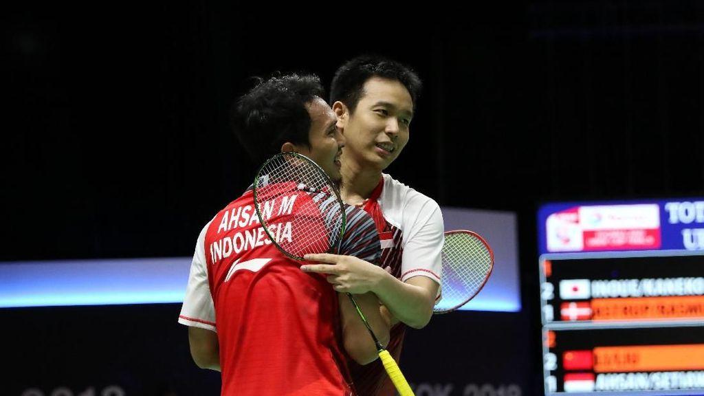 Kalah Lalu Indonesia Gagal ke Final, Ahsan/Hendra Minta Maaf