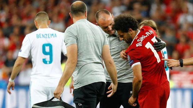 Mohamed Salah hanya bermain selama 30 menit di final Liga Champions.