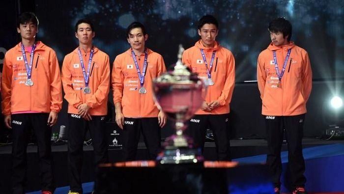 Jepang menjadi runner-up Piala Thomas 2018 setelah dikalahkan China 1-3 di final (Foto: Romeo Gacad/AFP)