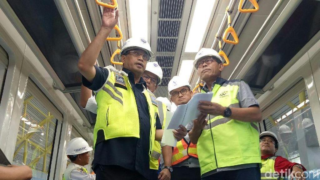 LRT Palembang Melaju Mulus dalam Uji Dinamis