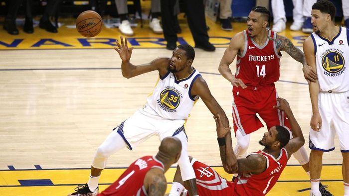 Golden State Warriors vs Houston Rockets akan lanjut ke gim ketujuh (Foto: Cary Edmondson-USA TODAY Sports)