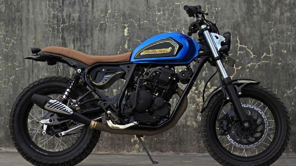 Yamaha Scorpio Bekas Tabrakan, Disulap Jadi Cantik