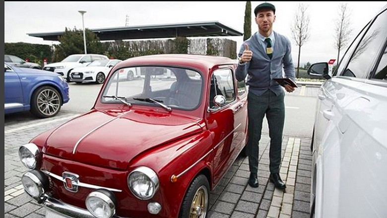 Mobil klasik hadiah untuk Sergio Ramos (Foto: Instagram/Sergio Ramos)