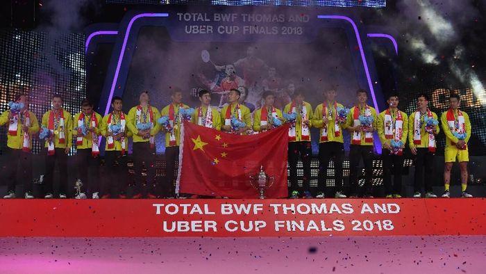 China menjuarai Piala Thomas 2018 setelah mengalahkan Jepang 3-1 di final (Foto: Puspa Perwitasari/Antara Foto)
