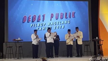 Debat Publik Pilbup Magelang, Ada Kades Dukung Calon
