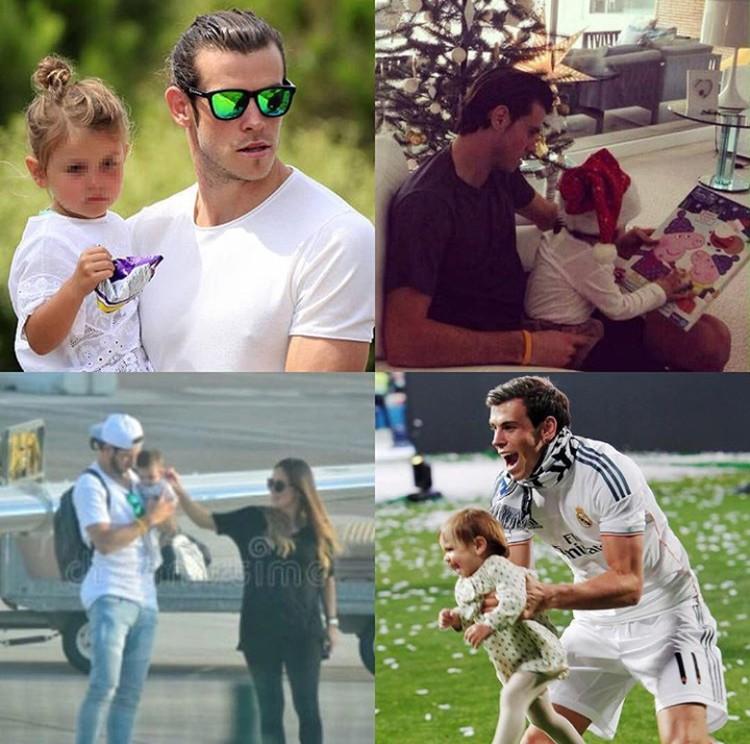 Gareth Bale, penyumbang 2 dari 3 gol kemenangan Real Madrid atas Liverpool di final Liga Champion, adalah ayah tiga anak, Bun. Di luar lapangan hijau, dia adalah sosok yang sayang banget anak dan keluarga. (Foto: Instagram @emmarhysjones_fanpage)