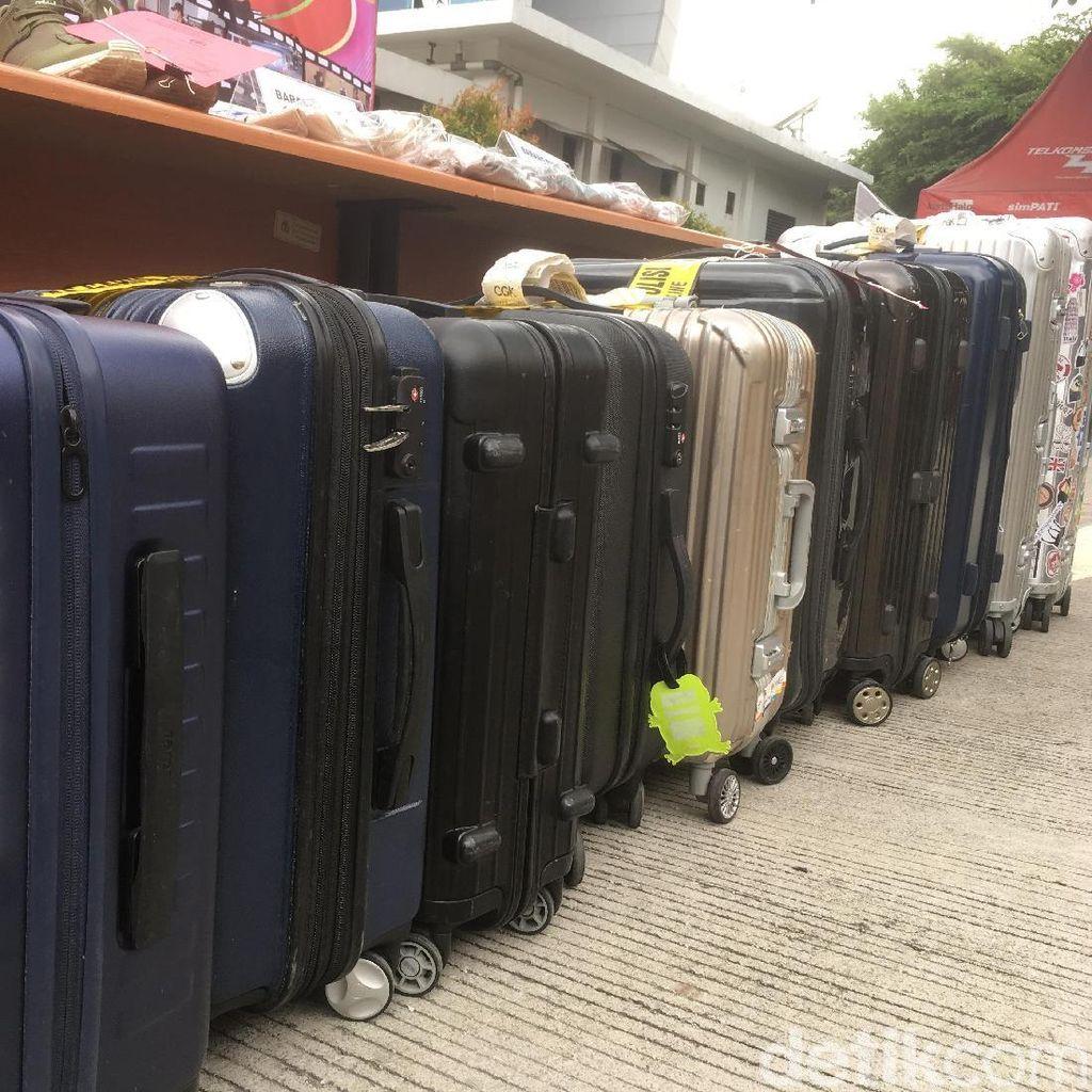 Foto: Deretan Koper Hasil Curian Siswa SMP di Bandara Soekarno-Hatta