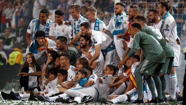 Real Madrid berhasil mencatat hattrick trofi Liga Champions.