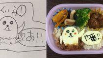 Viral, Coretan Gambar Anak Diubah Ayah Jadi Makanan