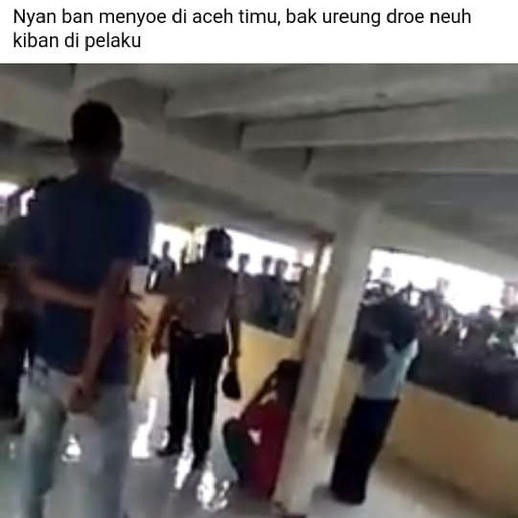 Viral Video Oknum Polisi dan Warga Pukuli Pemuda di Aceh