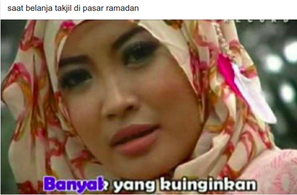 Siapa yang begini pas mau berbuka puasa? Foto: Facebook Qasidah Memes for All Occasions
