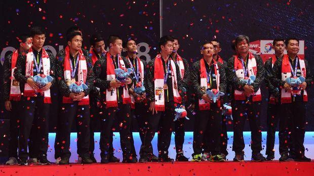 Tim putra Indonesia harus terhenti di babak semifinal pada Piala Thomas 2018.