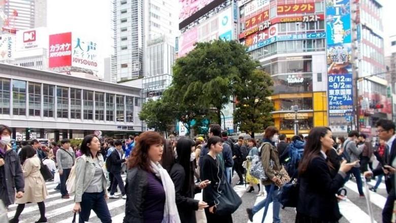 Ilustrasi penduduk Jepang (Rina Rahma/dTraveler)