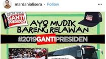 Dinyinyiri Netizen, Mudik #2019GantiPresiden Akan Tetap Lewat Tol