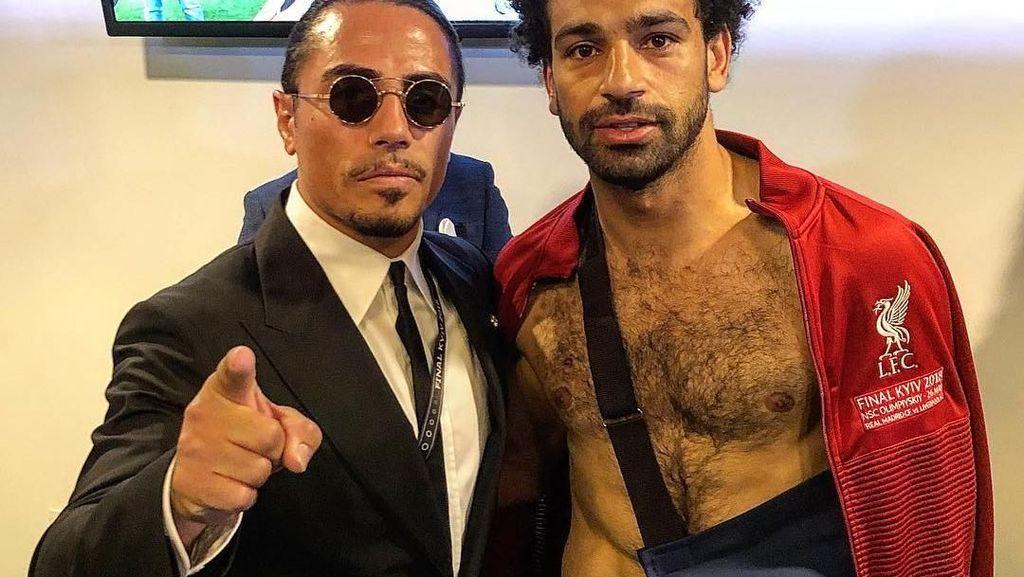 Tonton Liga Champions 2018, Salt Bae Berfoto dengan Ronaldo hingga Salah