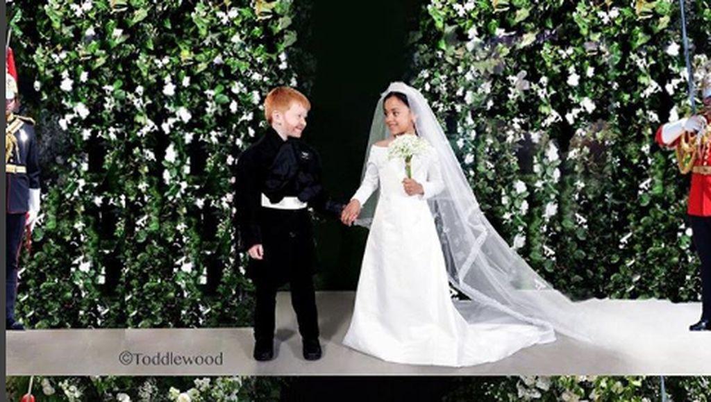 Gemas! Saat Anak-anak Jadi Pangeran Harry-Meghan di Royal Wedding