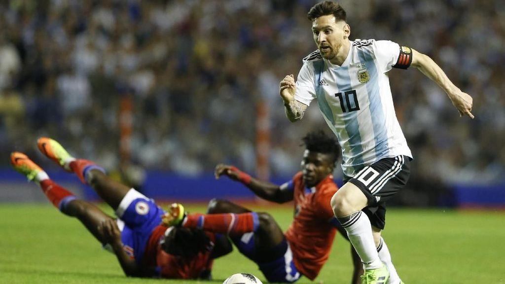 Messi Hat-trick, Argentina Lumat Haiti 4-0