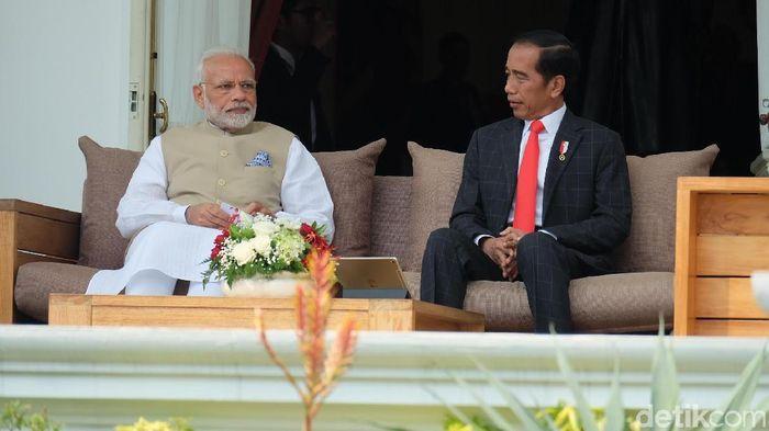 Presiden Jokowi dan PM India Narendra Modi/Foto: Andhika Prasetia/detikcom