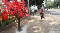 Hiasan Pohon Lampu Percantik Jalan Thamrin