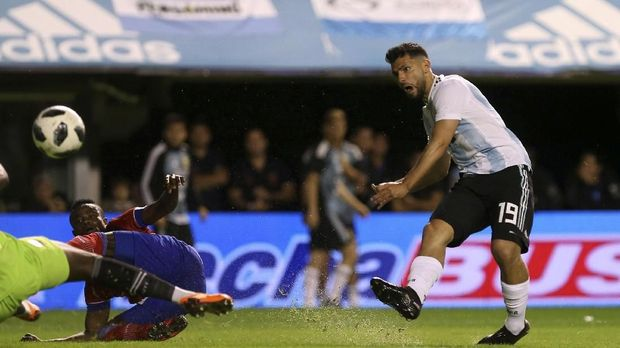 Sergio Aguero salah satu penyerang tajam di skuat timnas Argentina saat ini.