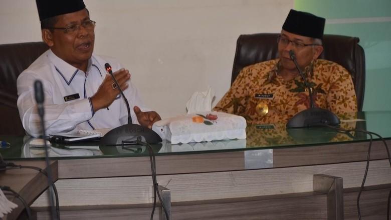 Foto: Wali Kota Banda Aceh Aminullah Usman menerima kunjungan kerja Pjs Wali Kota Tangerang M Yusuf (dok Pemko Banda Aceh)