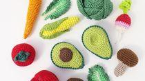 Keren! Buah dan Sayuran Segar Ini Terbuat dari Rajutan Benang Wol