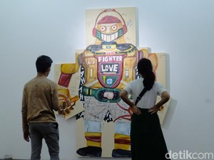Ini Lukisan-lukisan Naufal Abshar yang Ajak Pengunjung untuk Tertawa
