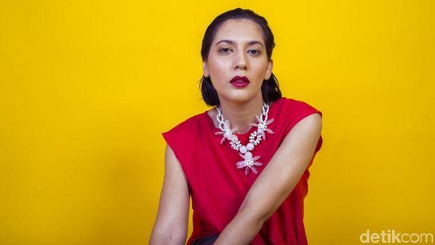 Hannah Al Rashid saat pemotretan Celeb of The Month