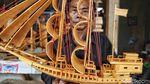 Melihat Uniknya Kerajinan Kapal Bambu di Marunda