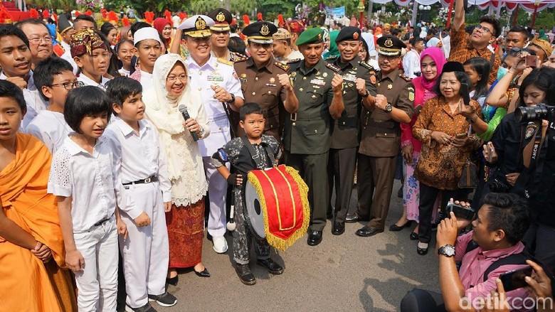 Di Hari Jadi Surabaya, Risma Ajak Warga Bersatu Lawan Teroris