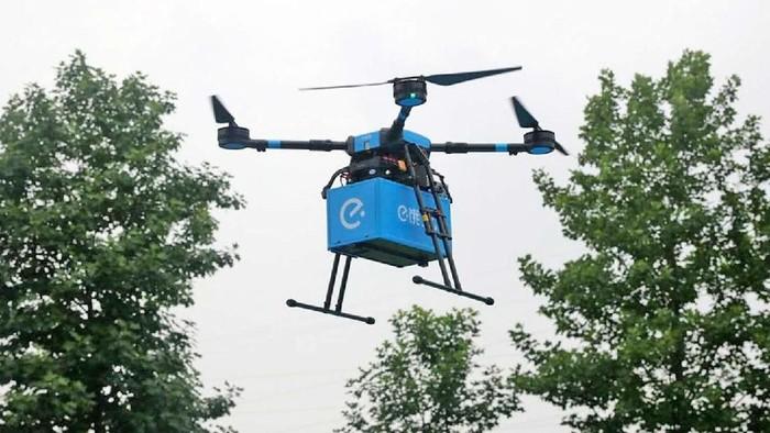 Drone pengantar makanan. Foto: Dok. Ele.me