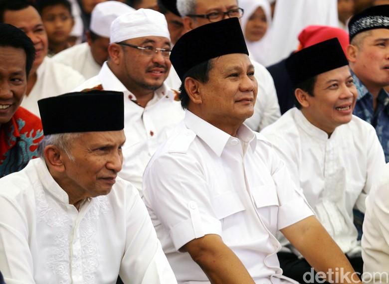 Gerindra Gambarkan Hubungan Prabowo-Amien yang Penuh Hormat