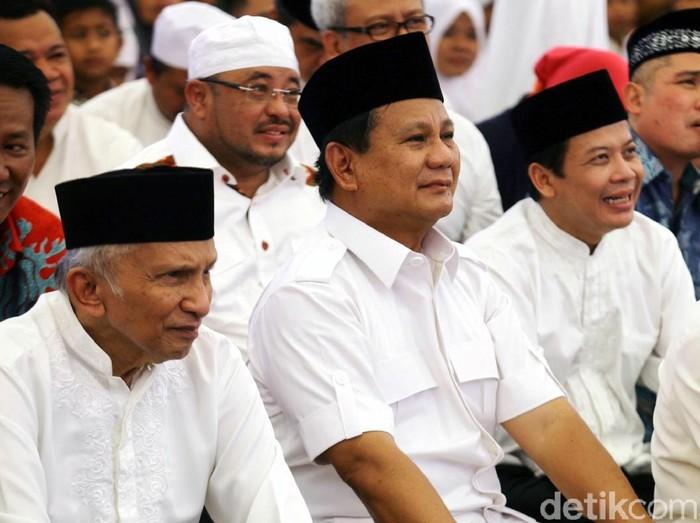 Amien Rais dan Prabowo (Foto: Agung Pambudhy/detikcom)