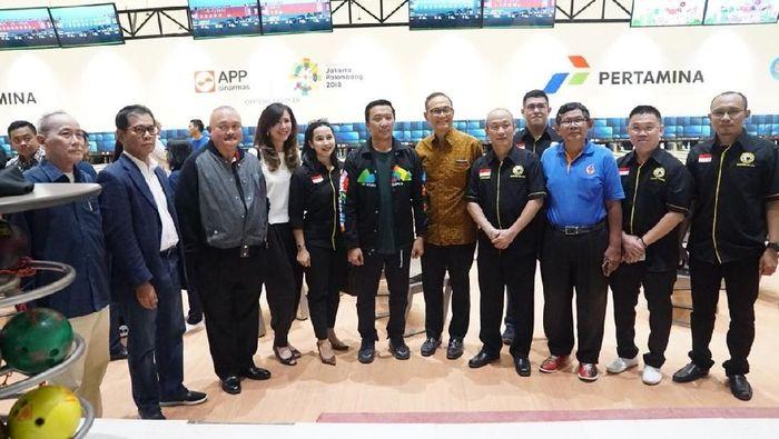 Menpora Imam Nahrawi berkunjung ke Jakabaring Bowling Center yang terletak di Jakabaring Sport Center, Palembang, Rabu (30/5/2018). Foto: istimewa