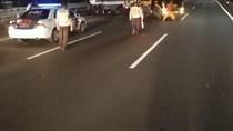 Diseruduk Truk Galon, Bus Kopaja Rusak Parah di Semanggi