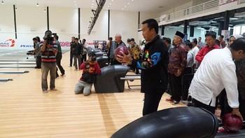 Menpora Jajal Venue Boling Asian Games di Palembang
