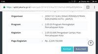 Anggaran lampu hias pencahayaan kota di APBD DKI 2018