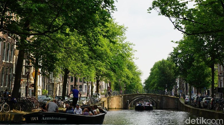 Foto: Kanal di Amsterdam (Afif Farhan/detikTravel)