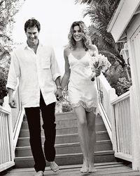 Foto jadul Cindy Crawford dan suaminya saat menikah 20 tahun lalu.