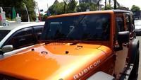 Mobil Wrengler Rubicon ini merupakan salah satu barang bukti kasus yang menjerat Angela Lee dan suaminya. Foto: Ristu Hanafi
