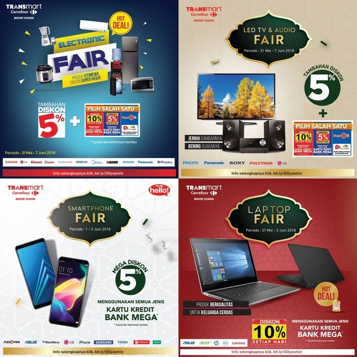 ada promo laptop hingga led tv di transmart carrefour yasmin bogor. Black Bedroom Furniture Sets. Home Design Ideas