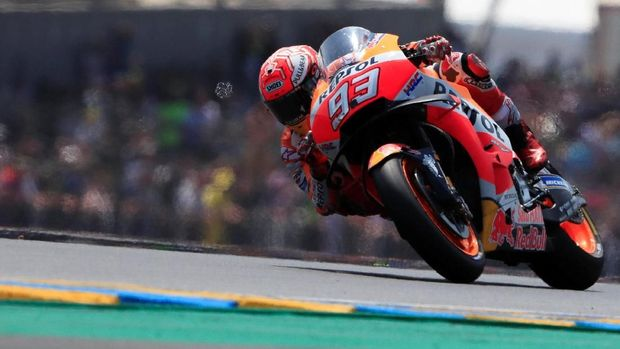 Marc Marquez ada di posisi kedua latihan bebas kedua MotoGP Malaysia.