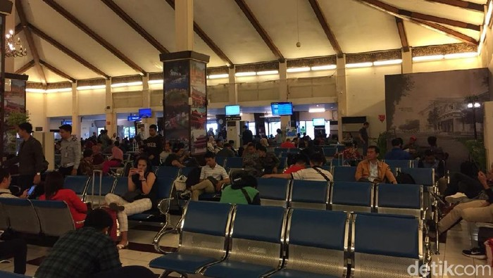 Suasana di Bandara Ahmad Yani Semarang. (Ahmad Bil Wahid/detikcom)