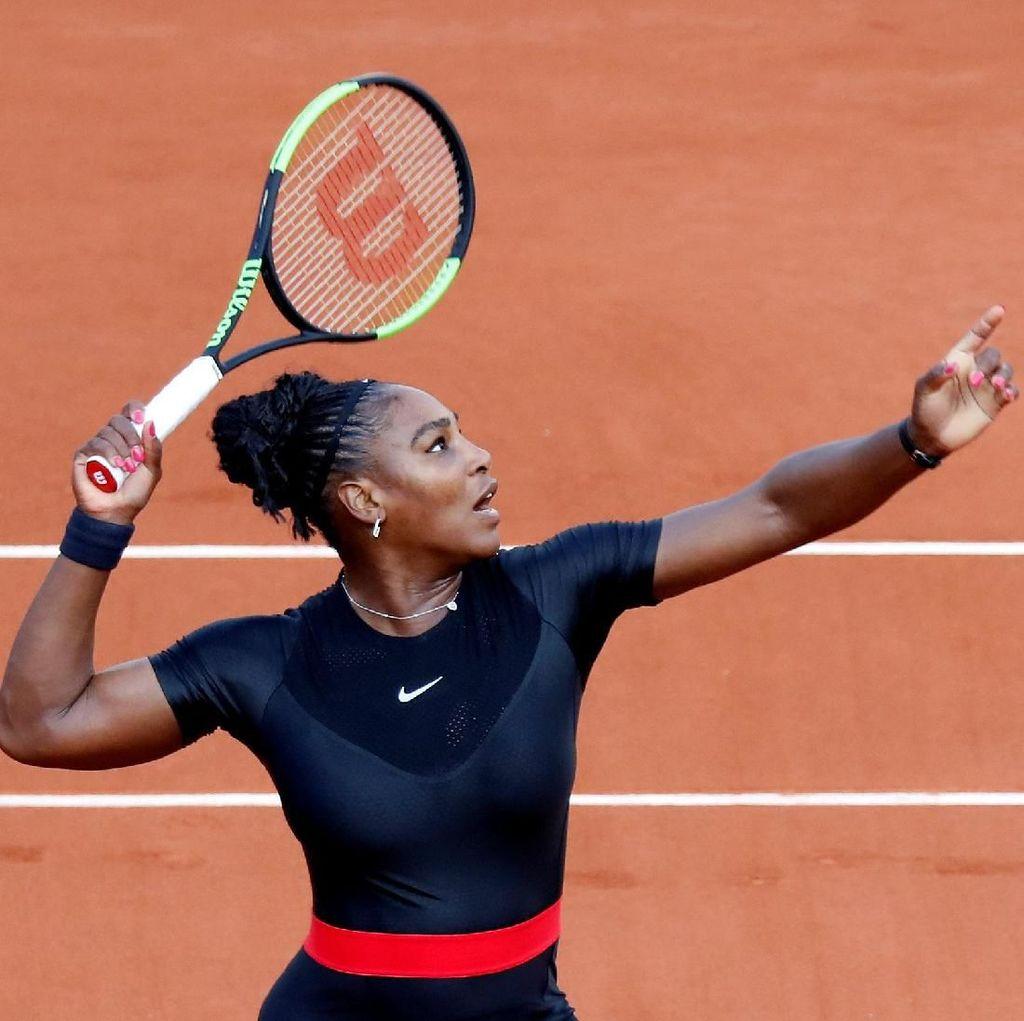 Serena Lolos Usai Main Tiga Set