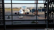 Suasana Bandara Adi Soemarmo yang Tutup Sementara Karena Erupsi Merapi