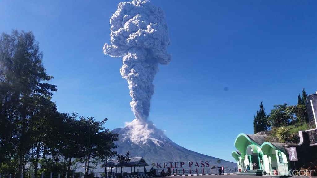 Erupsi Gunung Merapi Terekam dari Luar Angkasa