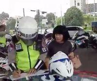 Viral! Ibu-ibu Ngamuk Ditilang Polisi di Bogor