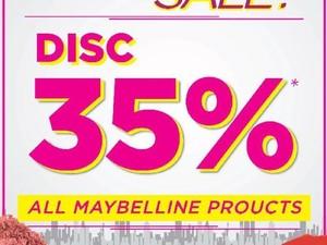 Hanya Hari Ini, Diskon Makeup 35% di Transmart Department Store